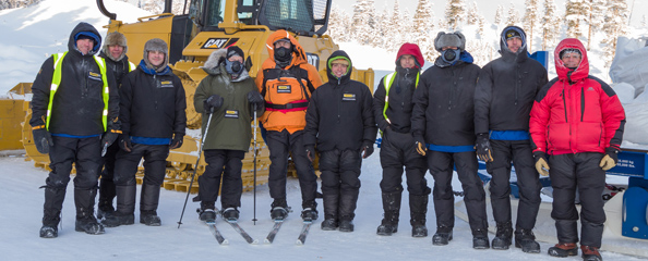 finning/cat, Chambers & Cook deliver supplies for the Coldest Journey