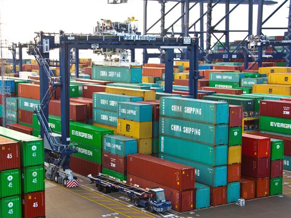 , Felixstowe container storage yards are over-full